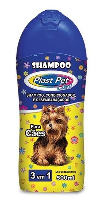 Shampoo para Cães 3 em 1 Plast Pet Care 500ml