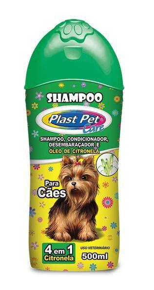 Shampoo para Cães 4 em 1 Plast Pet Care Citronela 500ml