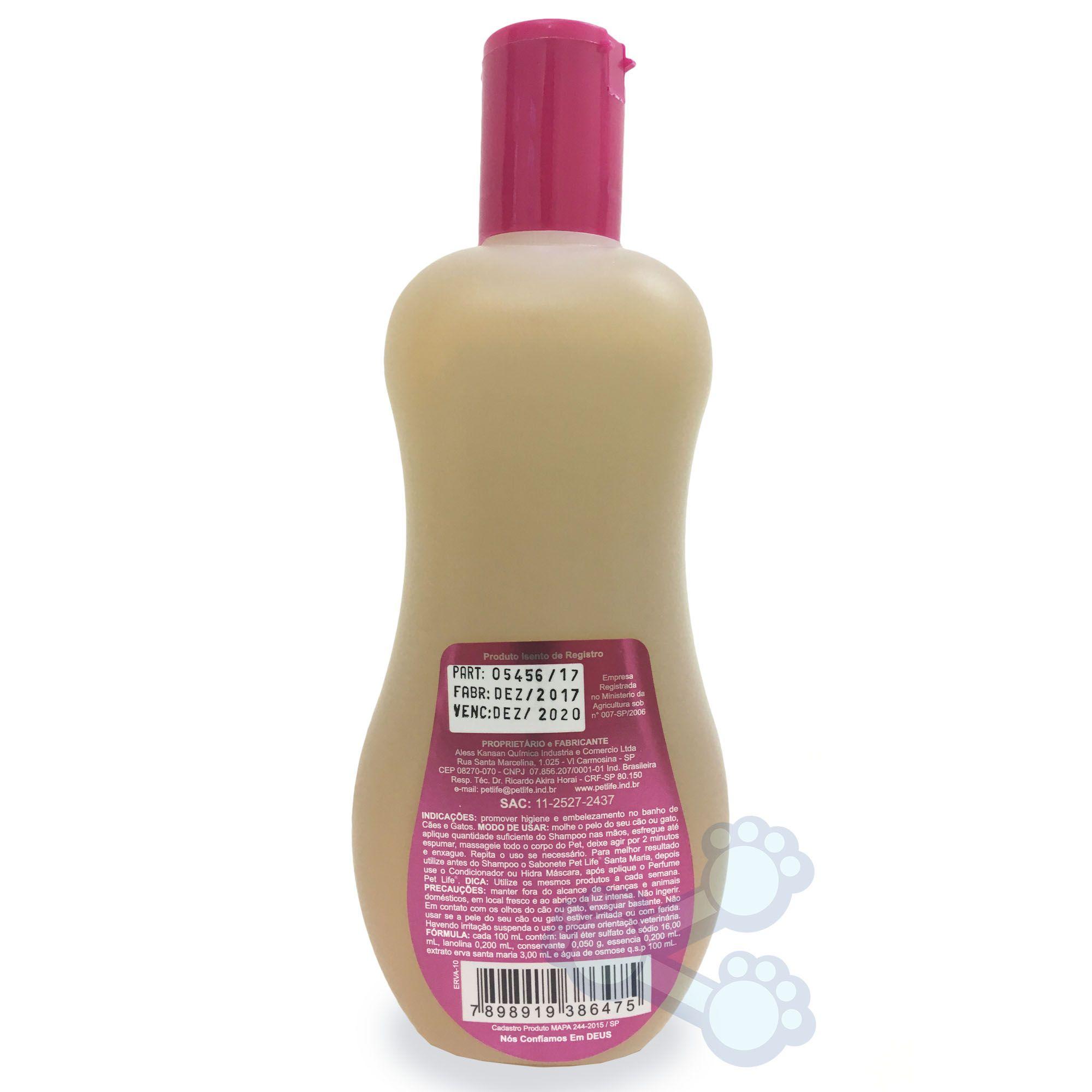 Shampoo Pet Life Erva Santa Maria (500ml)