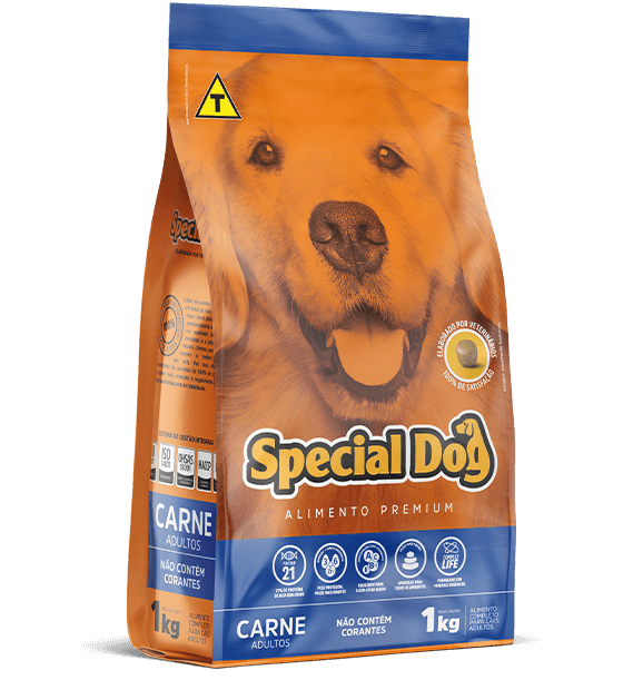 RAÇÃO SPECIAL DOG CARNE ADULTOS 3Kg