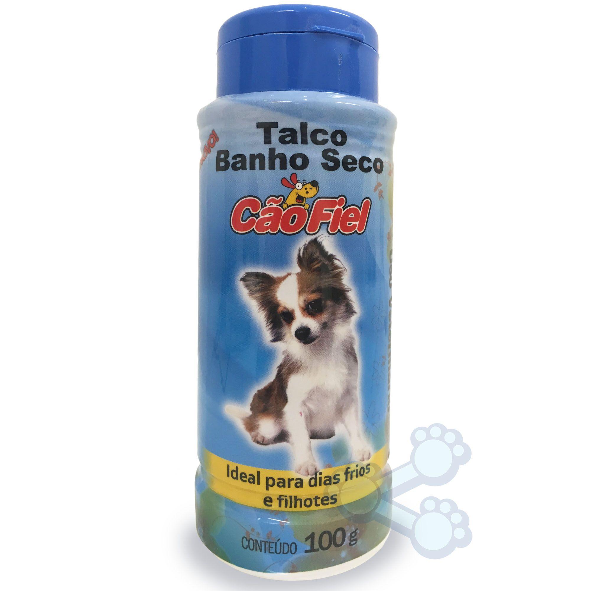 Talco Banho Seco Cão Fiel filhotes 100g
