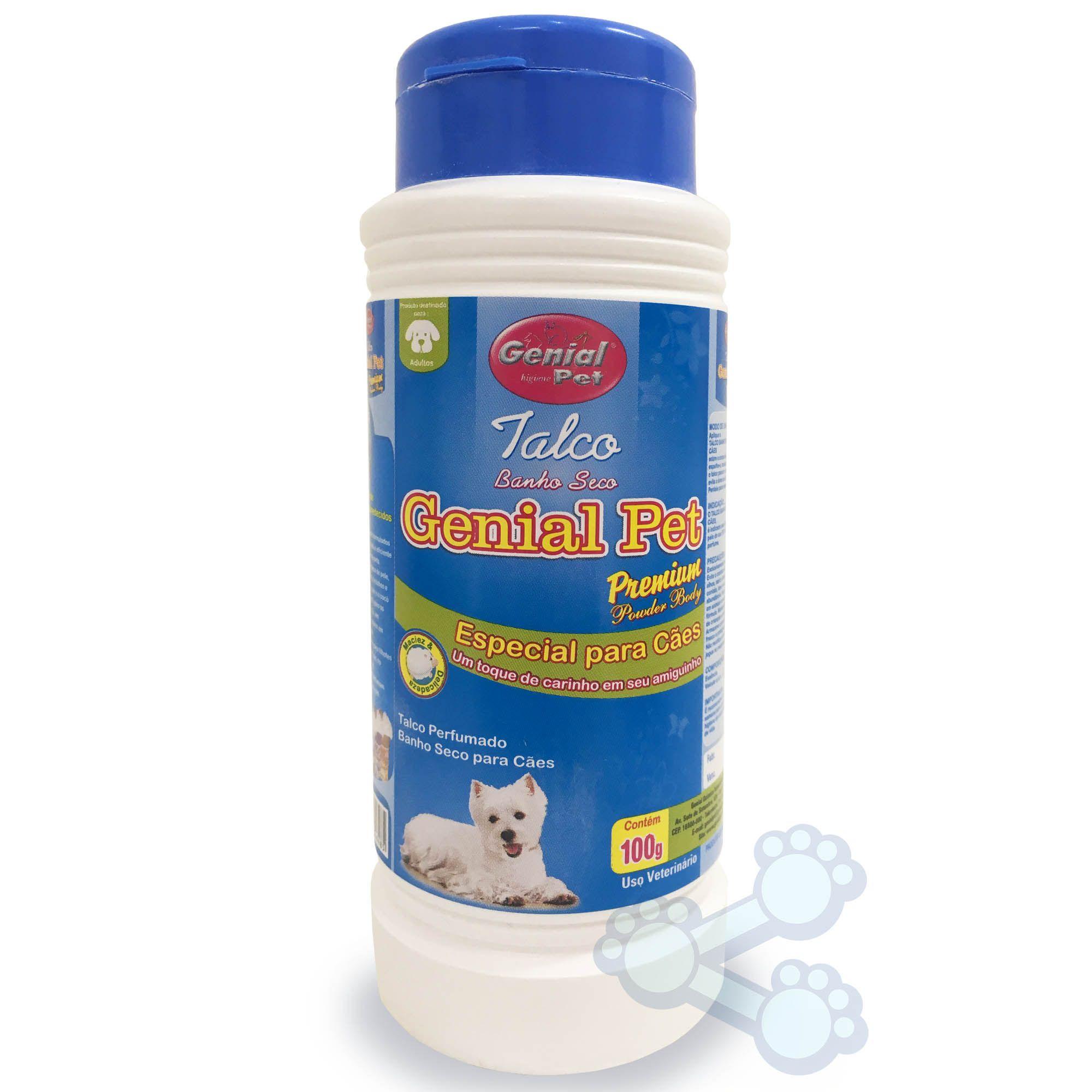 Talco Banho Seco Genial Cães 100g
