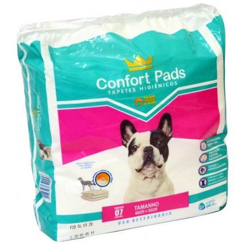 Tapetes Higiênicos Confort Pads 55x60cm 07 Unidades P/ Pets