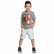 Camiseta Infantil Angry Birds Mescla