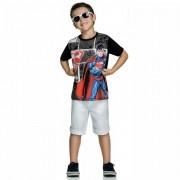 Camiseta Infantil Super Homem Preta