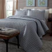 Colcha King Corttex Micromatelassê Home Design Cinza