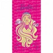Toalha de Banho Barbie Aveludada Infantil