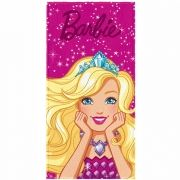 Toalha de Banho Barbie Felpuda Infantil Close