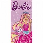 Toalha de Banho Barbie Felpuda Infantil Pet
