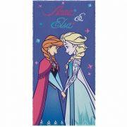 Toalha de Banho Frozen Felpuda Infantil Anna e Elsa