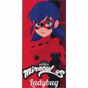 Toalha de Banho Ladybug Felpuda Infantil Vermelha
