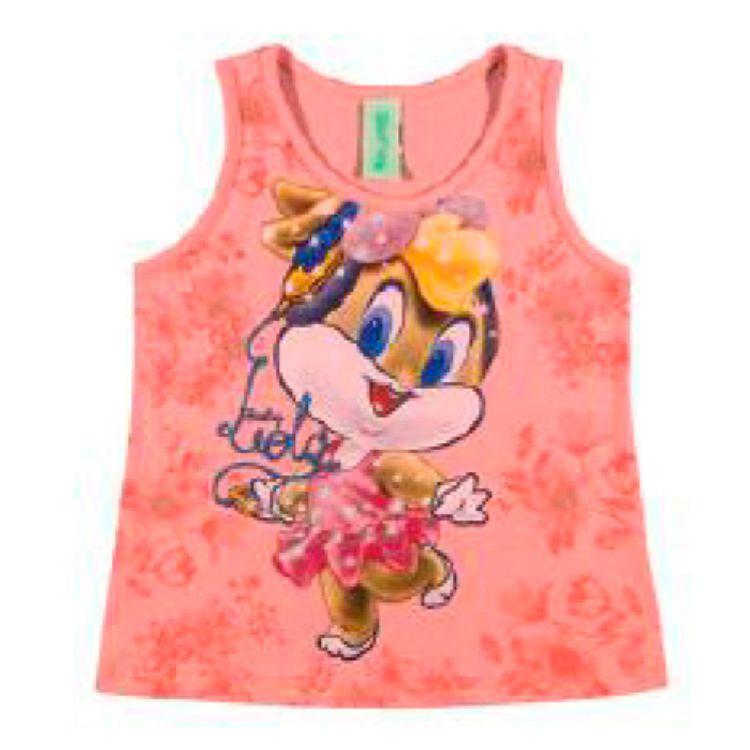 Blusa Bebê Looney Tunes Regata