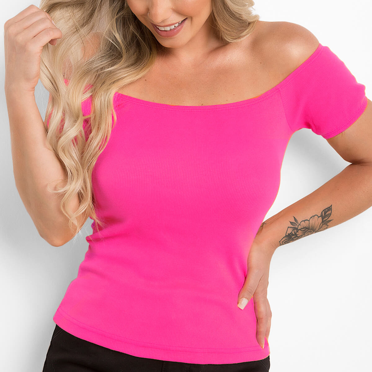 Blusa Ciganinha Feminina Ribana Pink