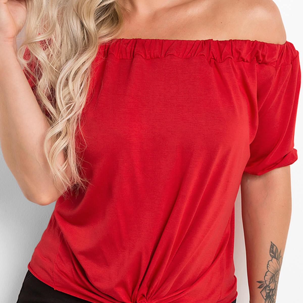 Blusa Ciganinha Feminina Viscolycra Vermelha