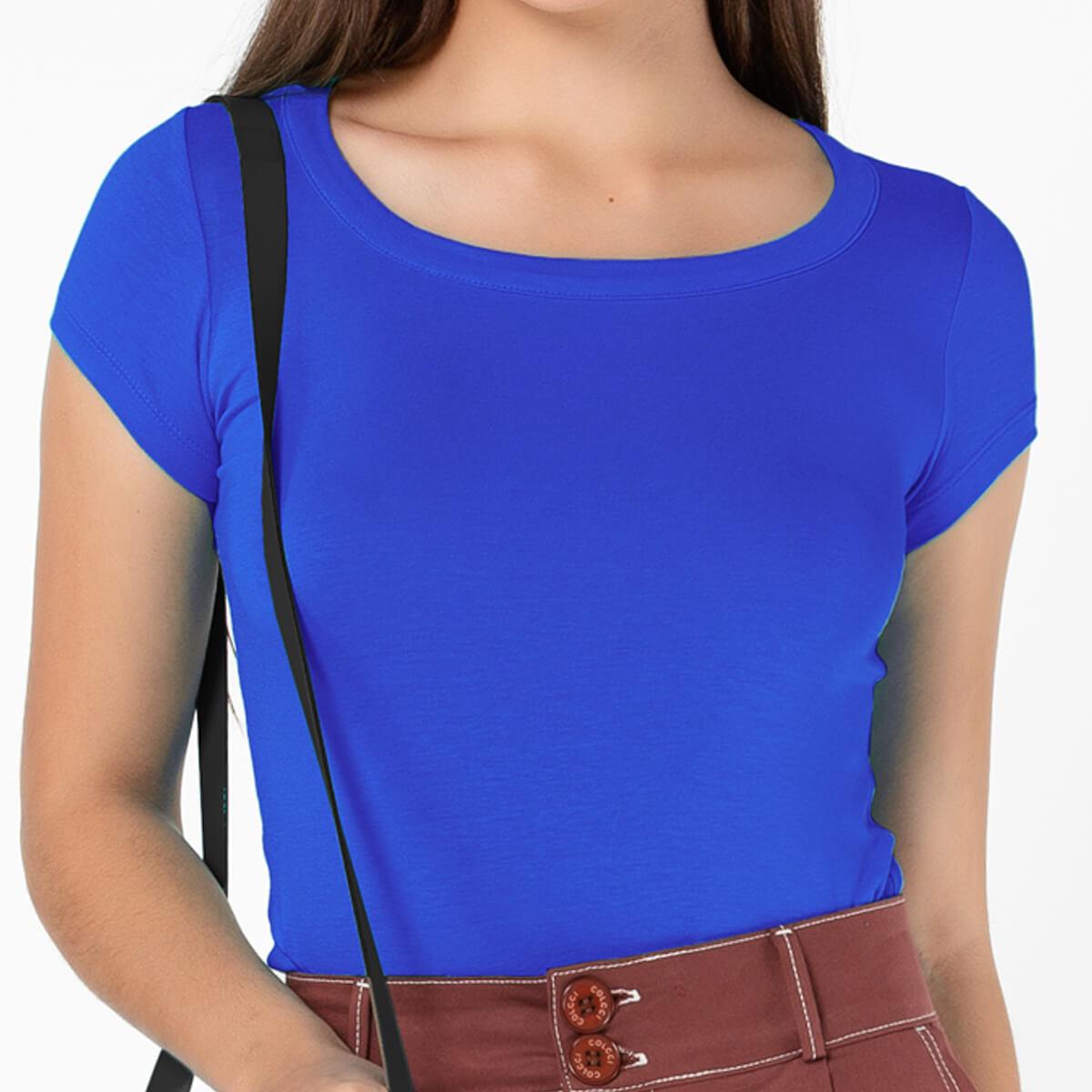 Blusa Feminina Básica Comfort Azul