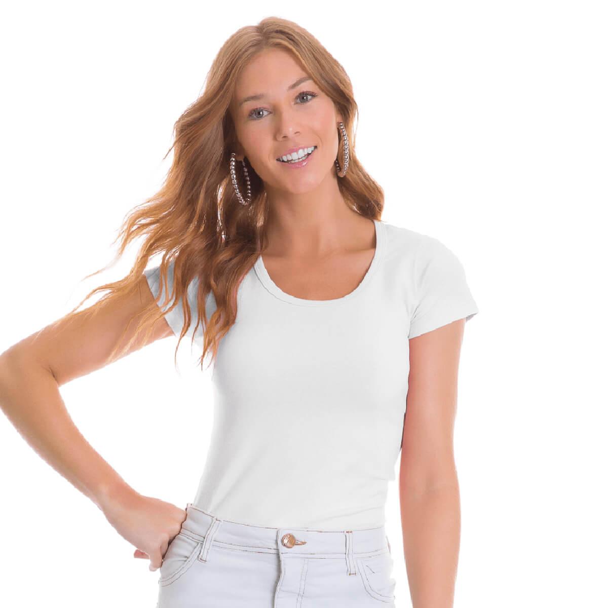 Blusa Feminina Básica Comfort Branca