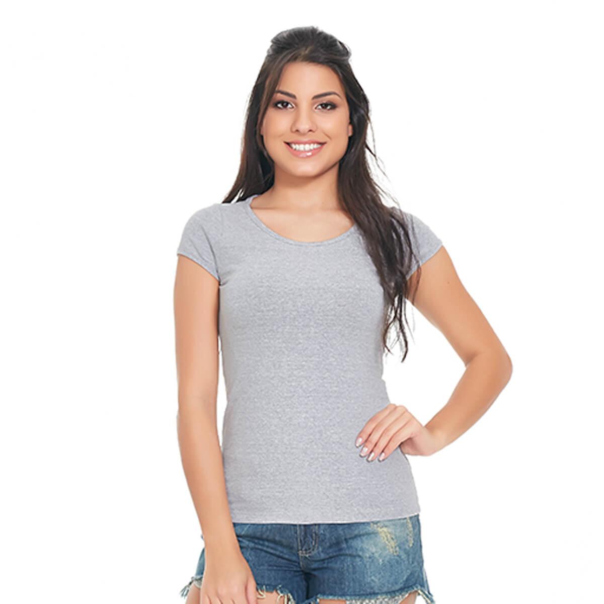 Blusa Feminina Básica Comfort Cinza