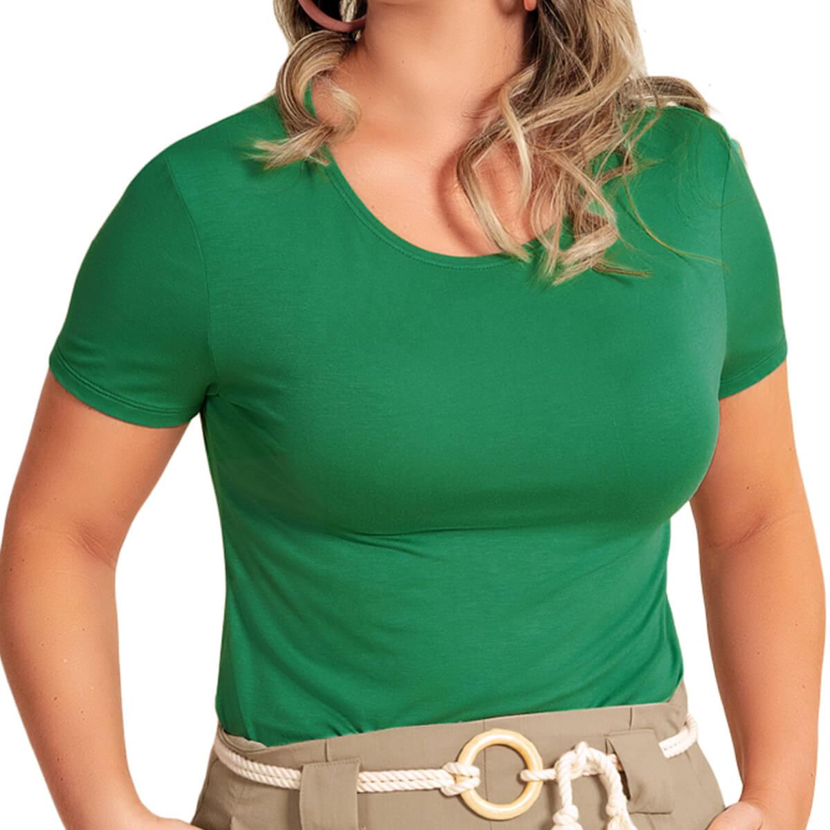 Blusa Feminina Básica Essencial Verde