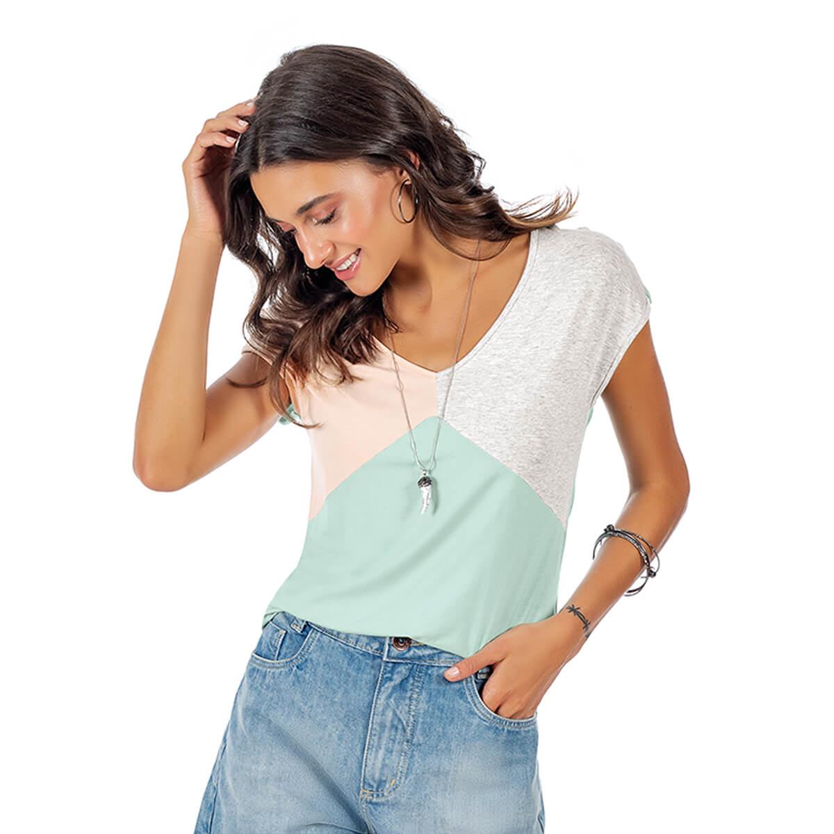 Blusa Feminina Casual com Recorte