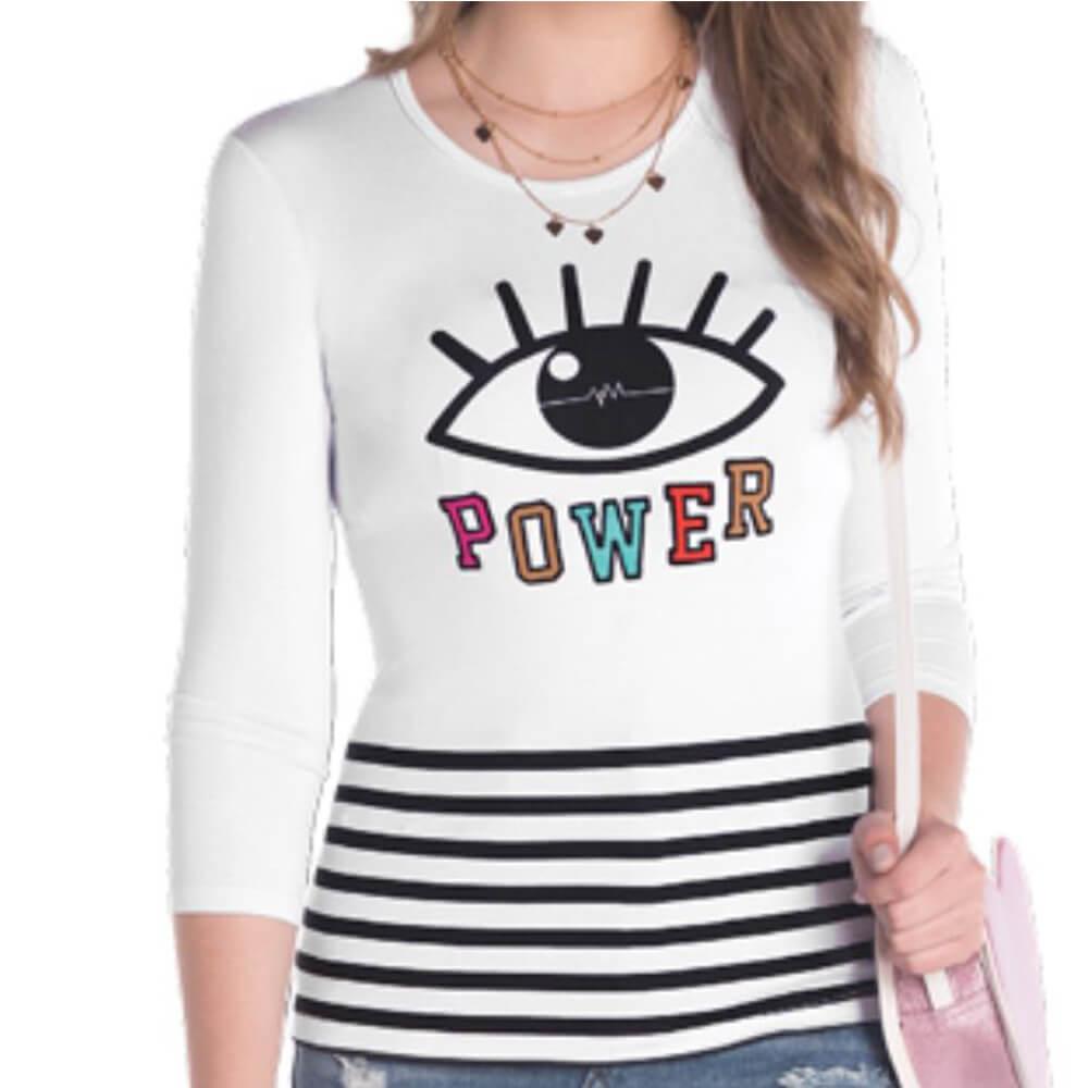 Blusa Feminina Juvenil Power