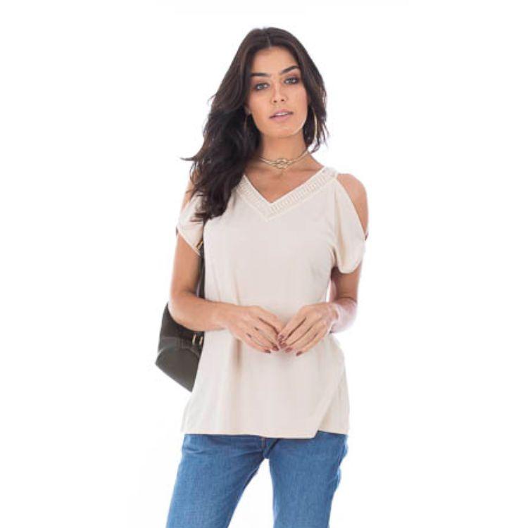Blusa Feminina Ombro Vazado