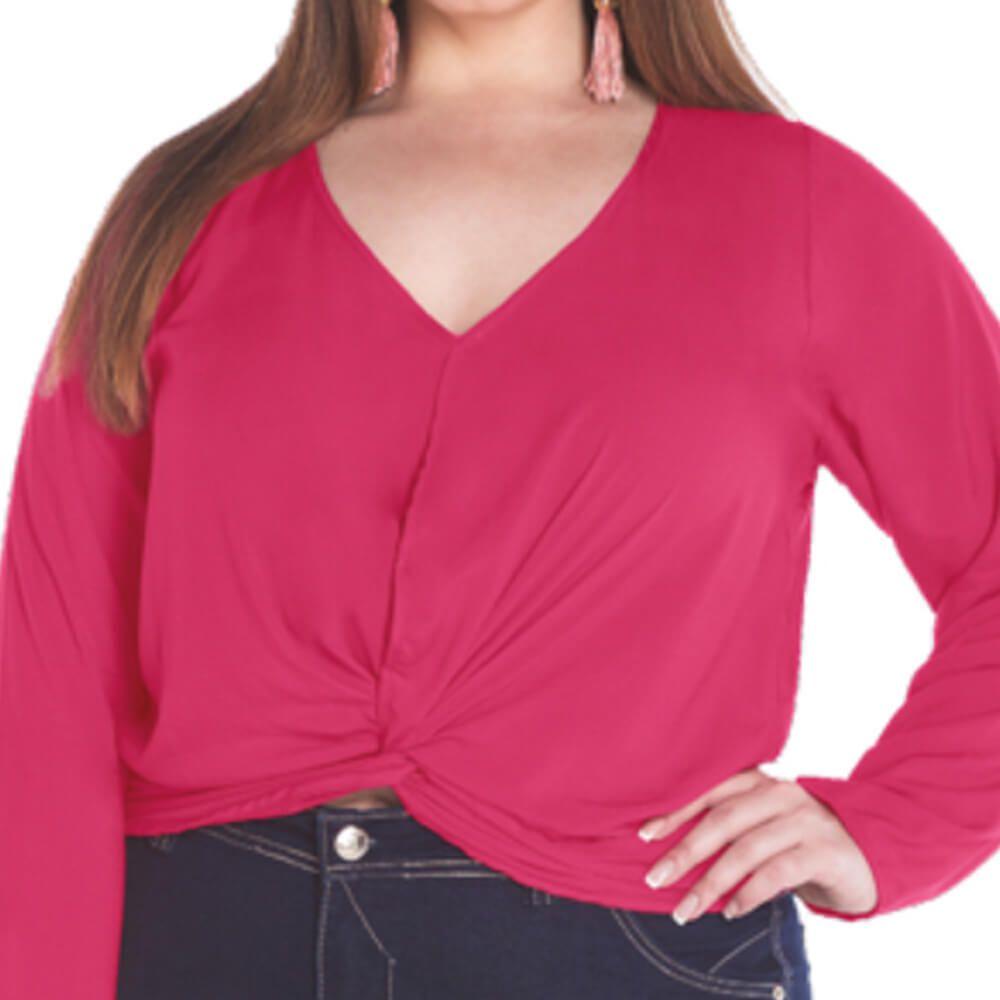 Blusa Feminina Plus Delta Pink