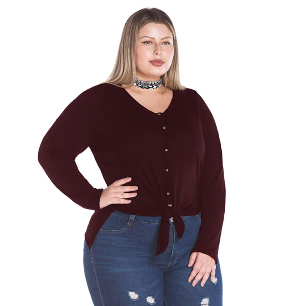 Blusa Feminina Plus Tricot