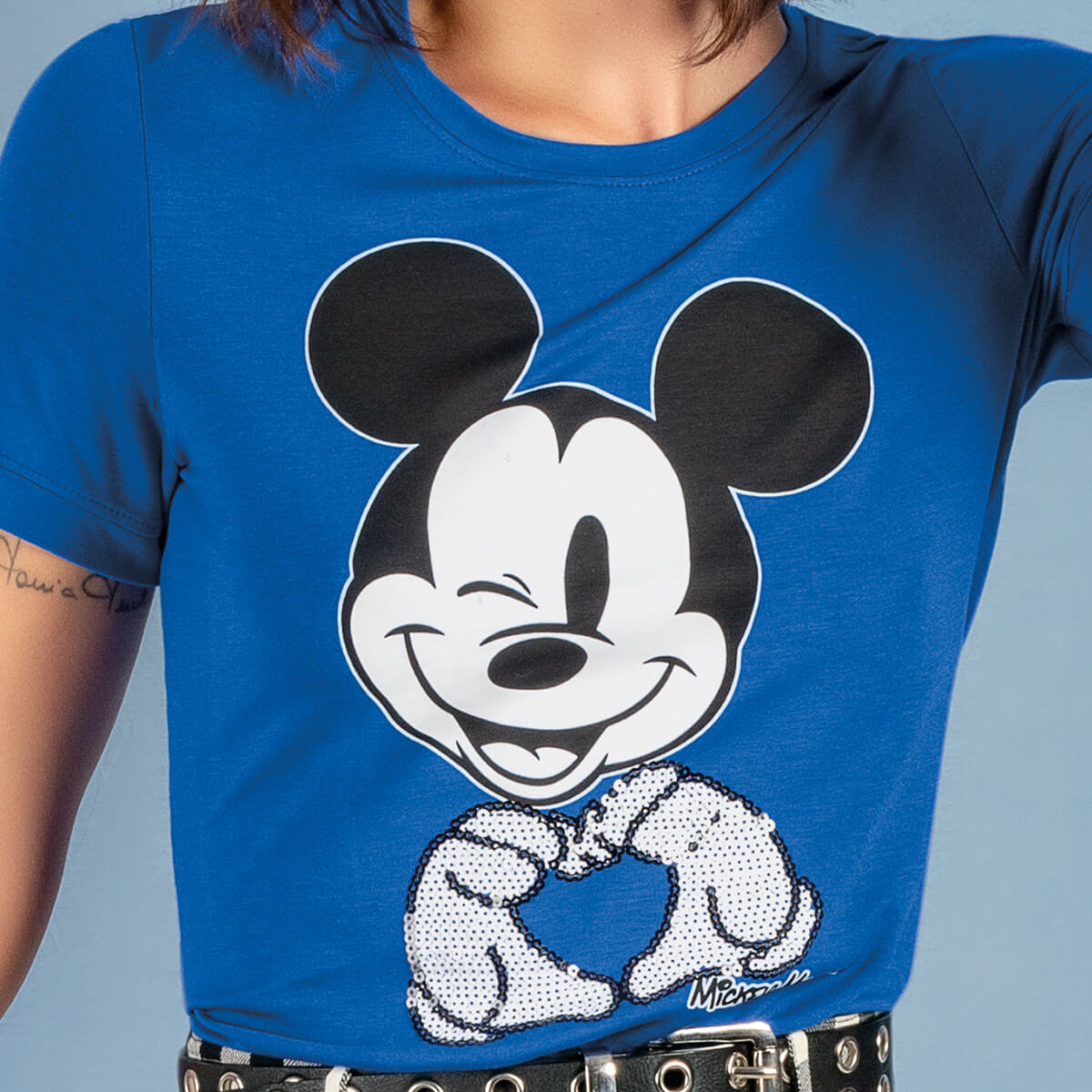 Blusa Feminina Viscolycra Mickey Heart