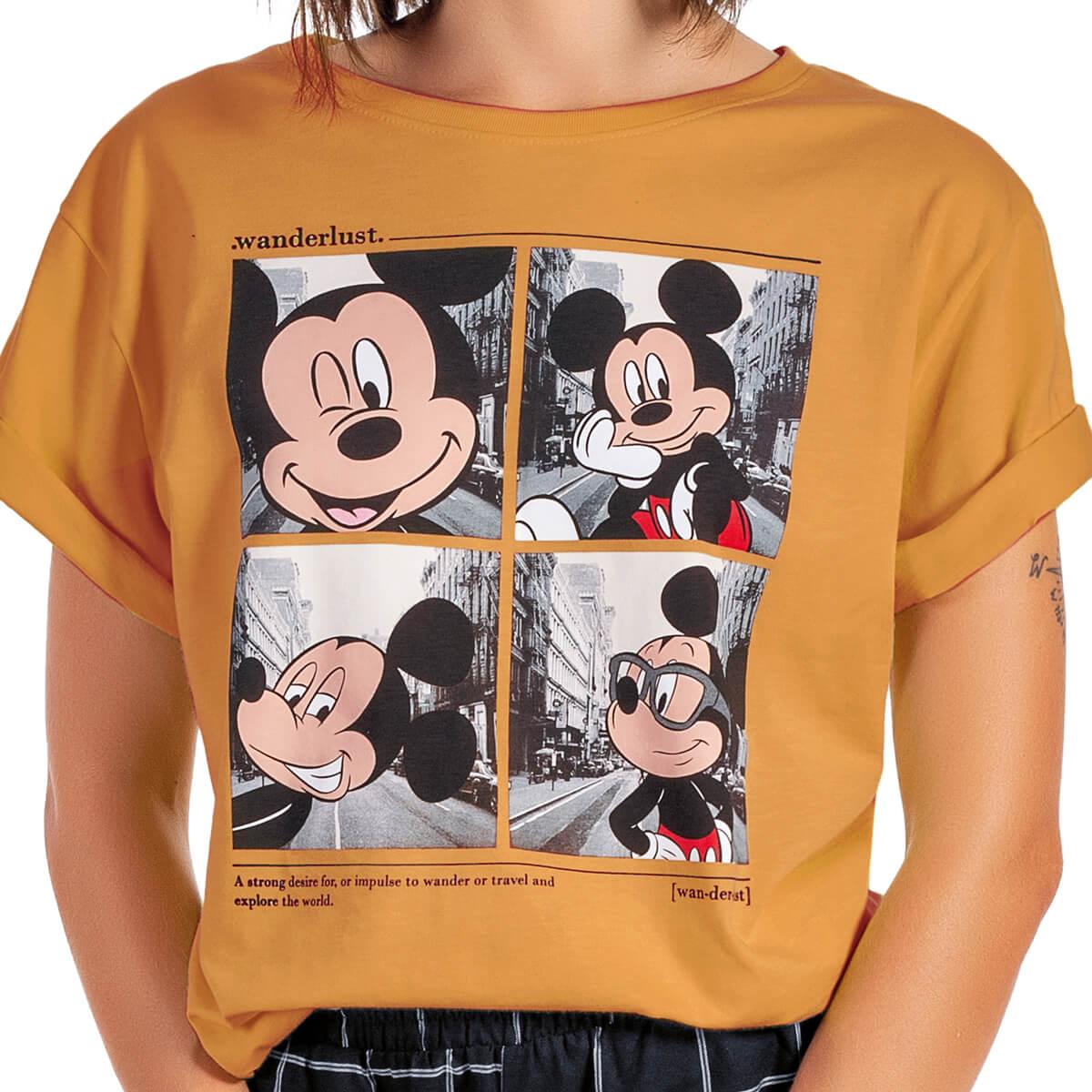 Blusa Feminina Viscolycra Mickey Selfie