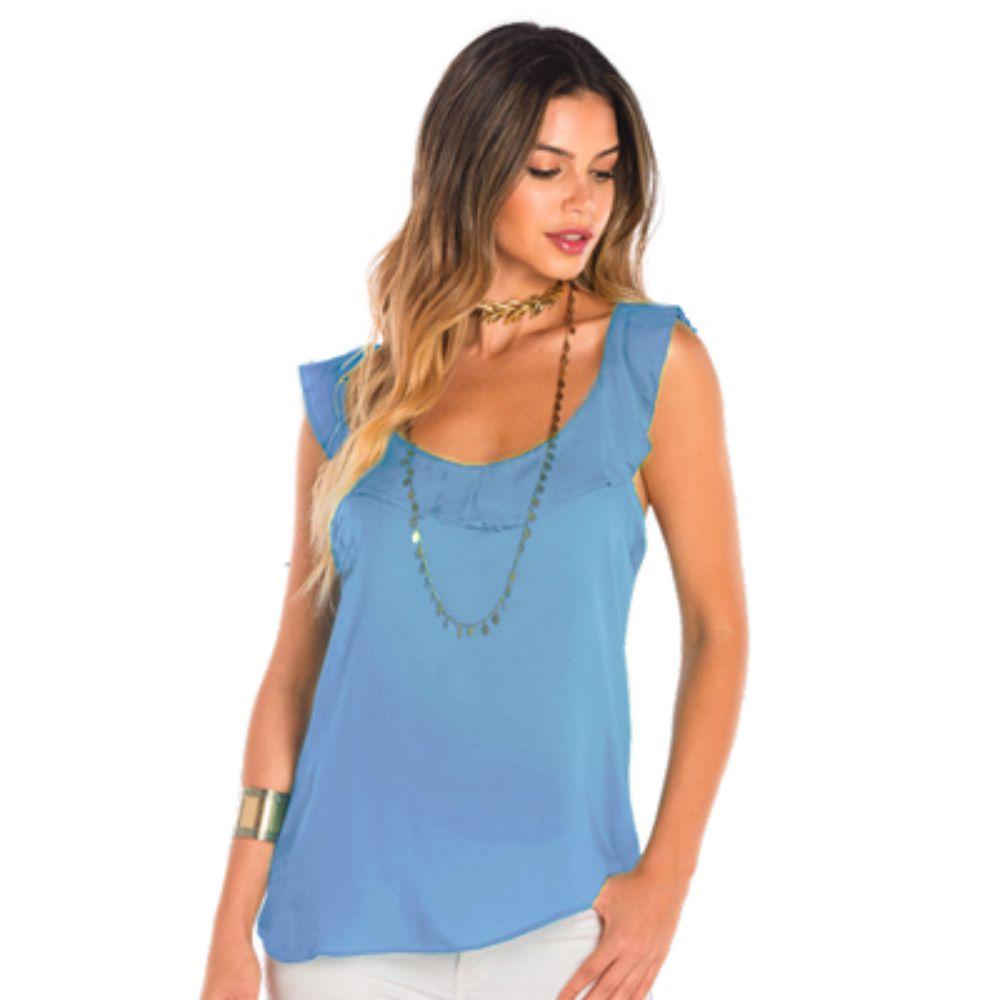 Blusa Feminina Viscose Atena Azul