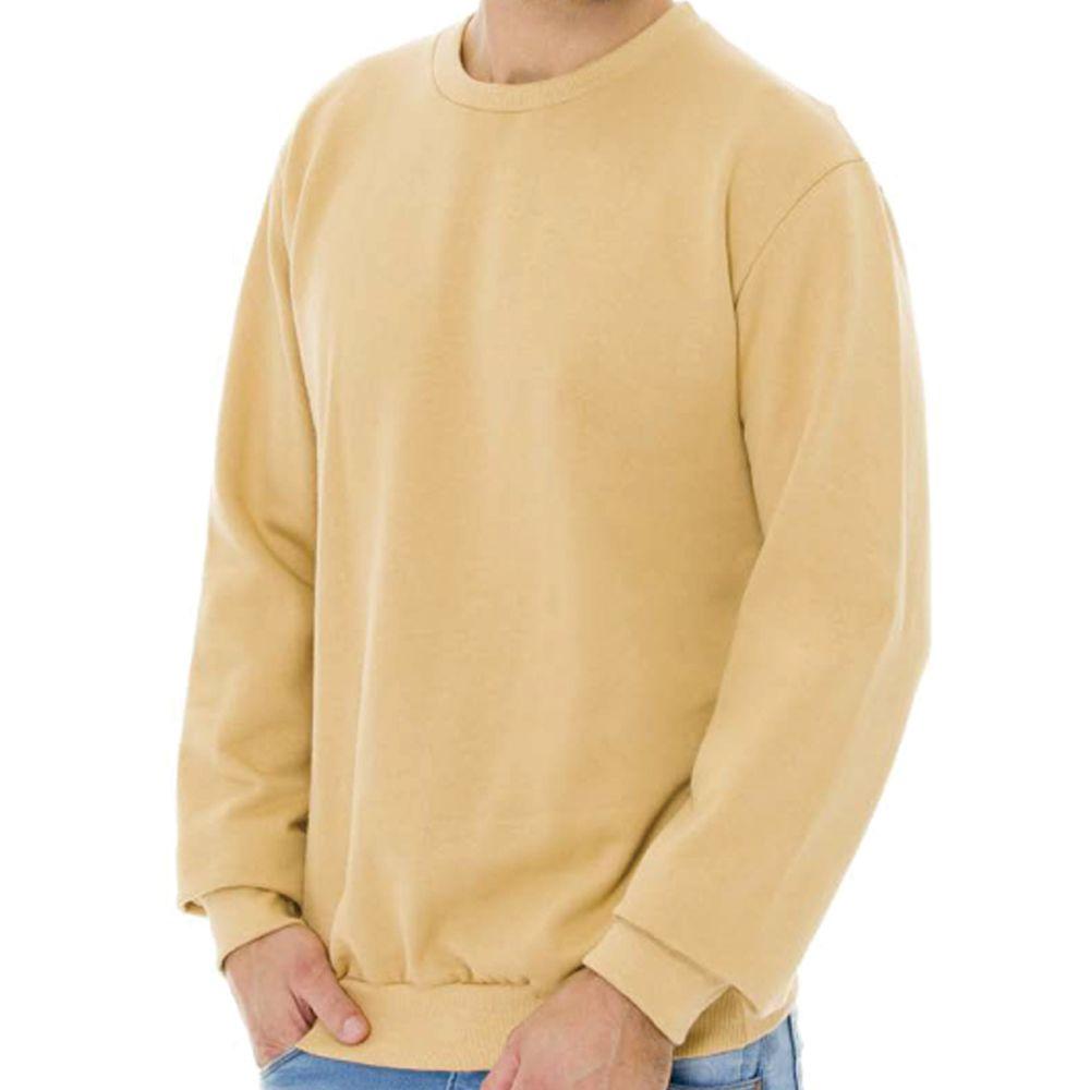 Blusa Masculina Moletom Básica Cobre