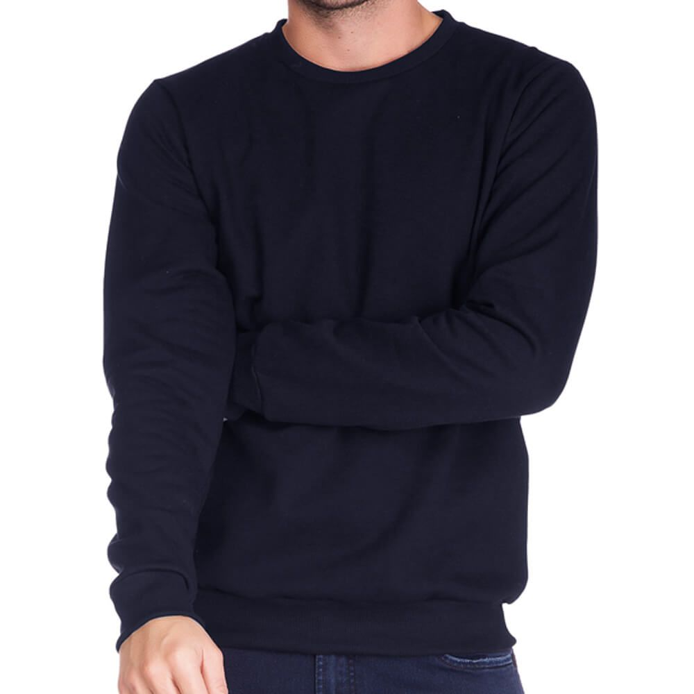 Blusa Masculina Moletom Básica Marinho