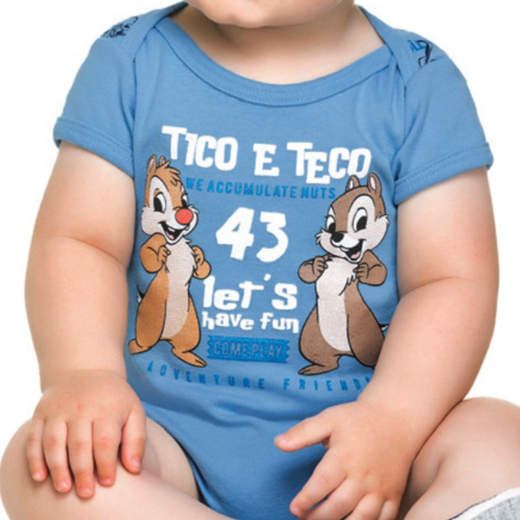 Body Bebê Disney Tico e Teco