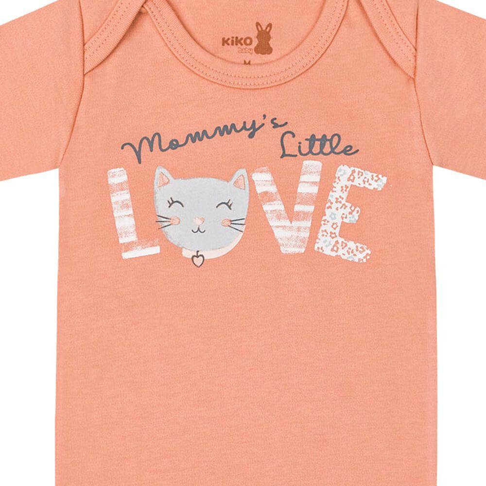 Body Bebê Menina Manga Longa Estampado Mommy's Love