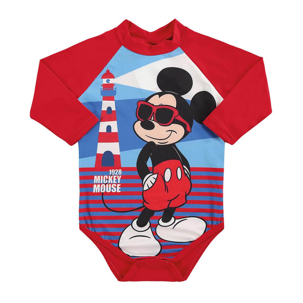 Body Bebê Menino Proteção UV Mickey