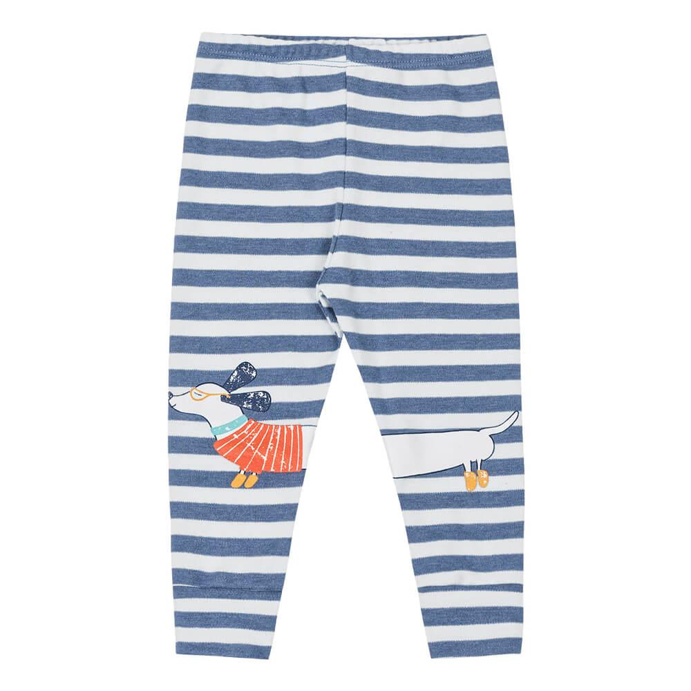 Calça Bebê Menino Listrada Estampada Azul