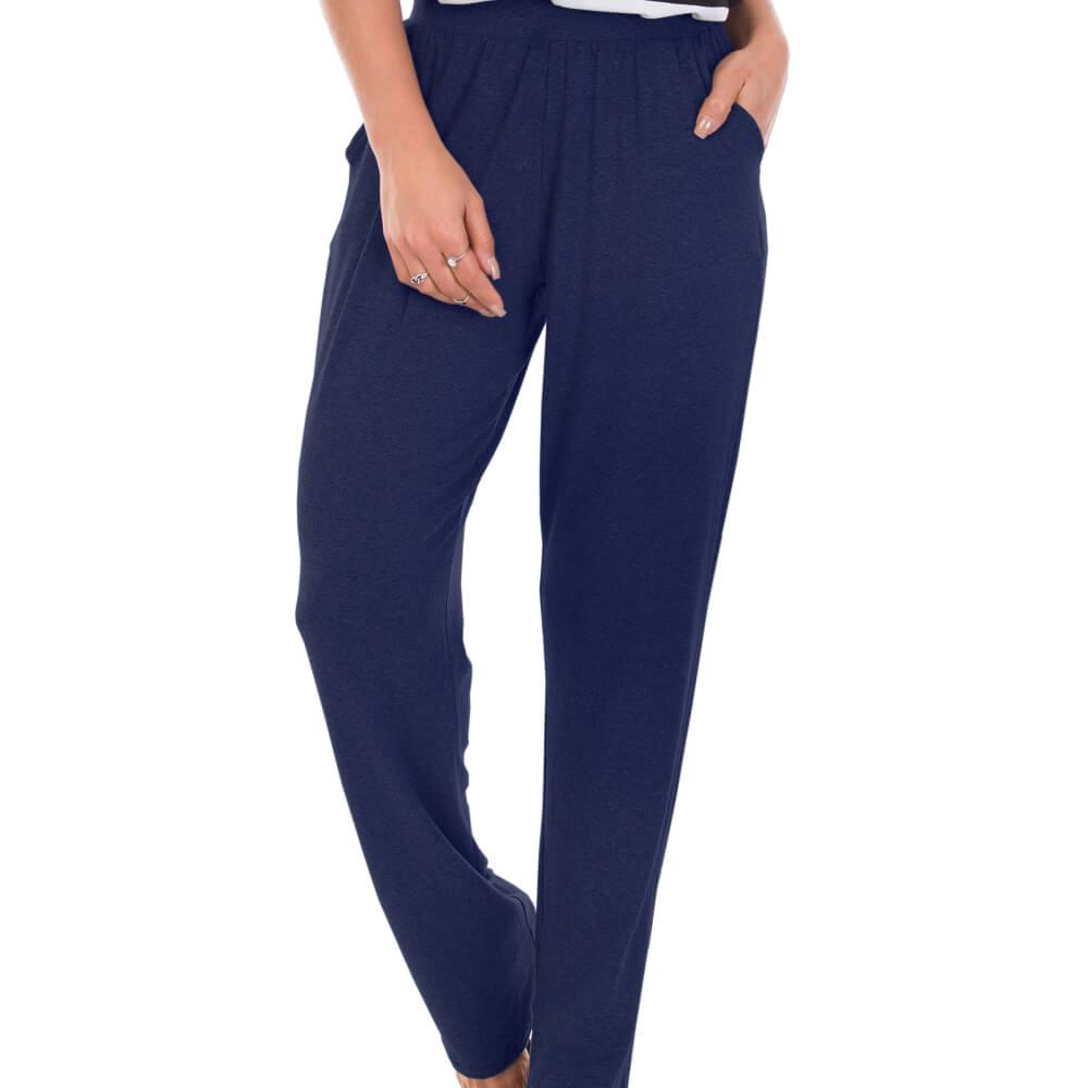Calça Feminina Básica Viscolycra Azul