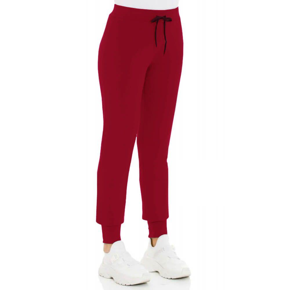 Calça Feminina Moletom Básica Vermelha