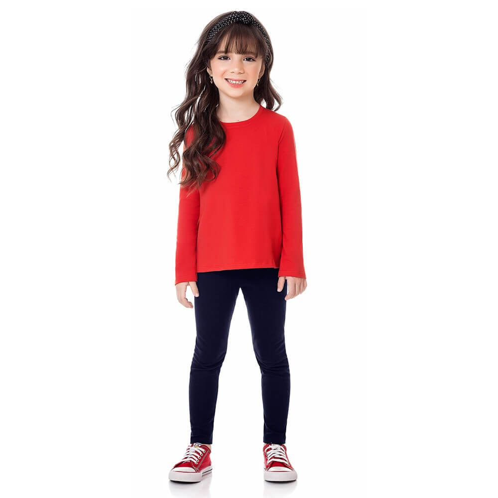 Calça Infantil Menina Legging Básica Marinho