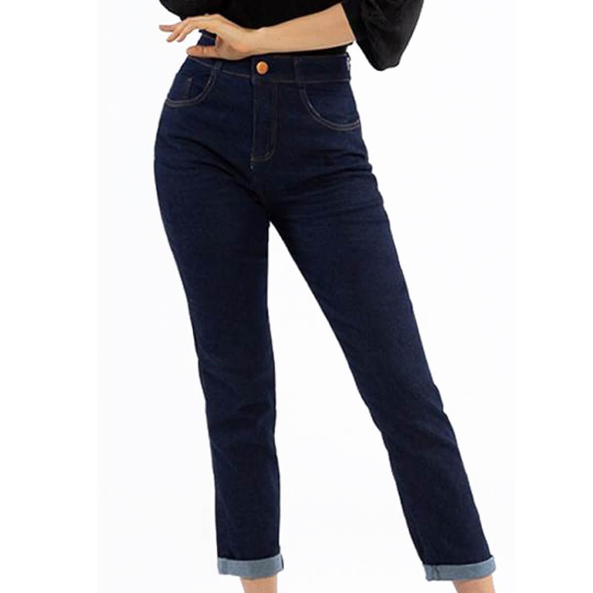 Calça Jeans Feminina Acinturada Mom