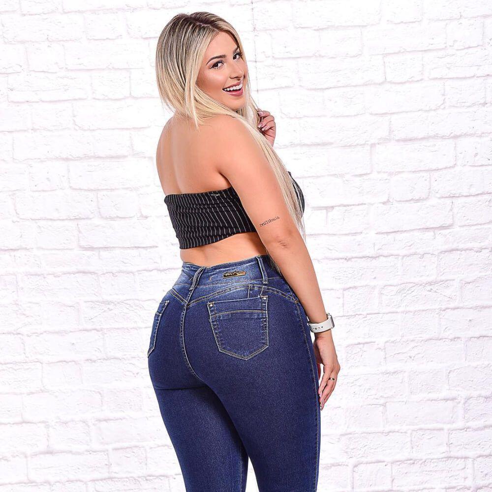 Cigarrete Jeans Feminina com Cinta