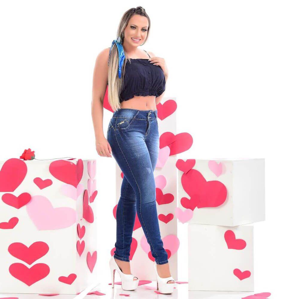 Calça Jeans Feminina Cigarrete