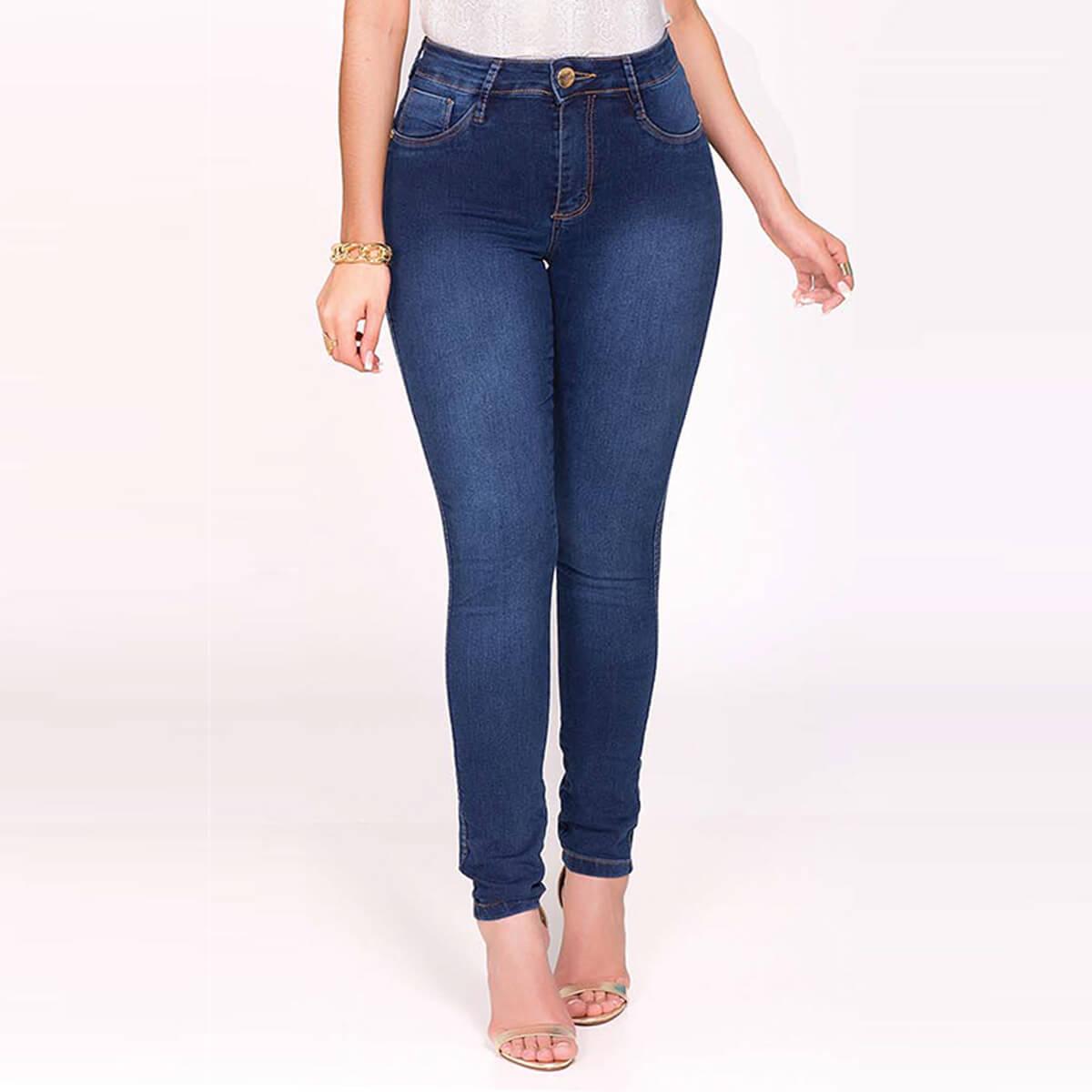 Calça Jeans Feminina Cigarrete Super Power