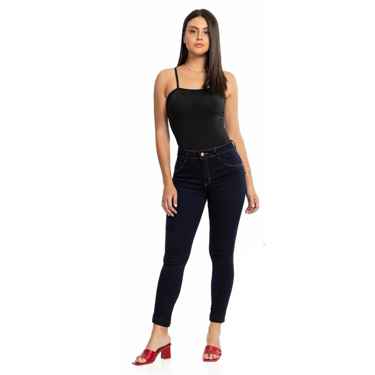Calça Jeans Feminina Skinny Midi