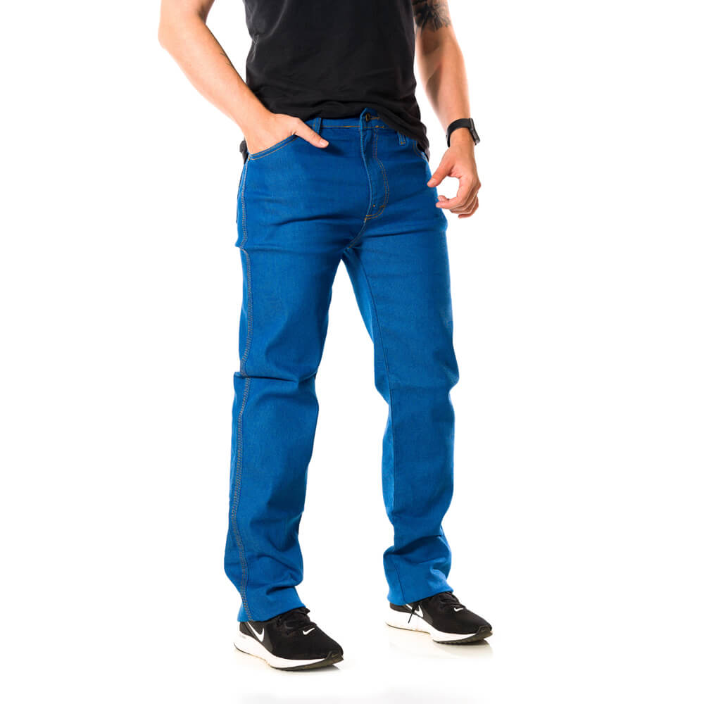 Calça Jeans Masculina Premium Elastano Delavê