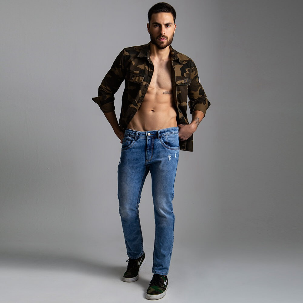 Calça Masculina Jeans Wade