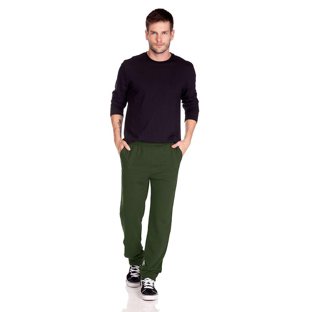 Calça Masculina Moletom Verde