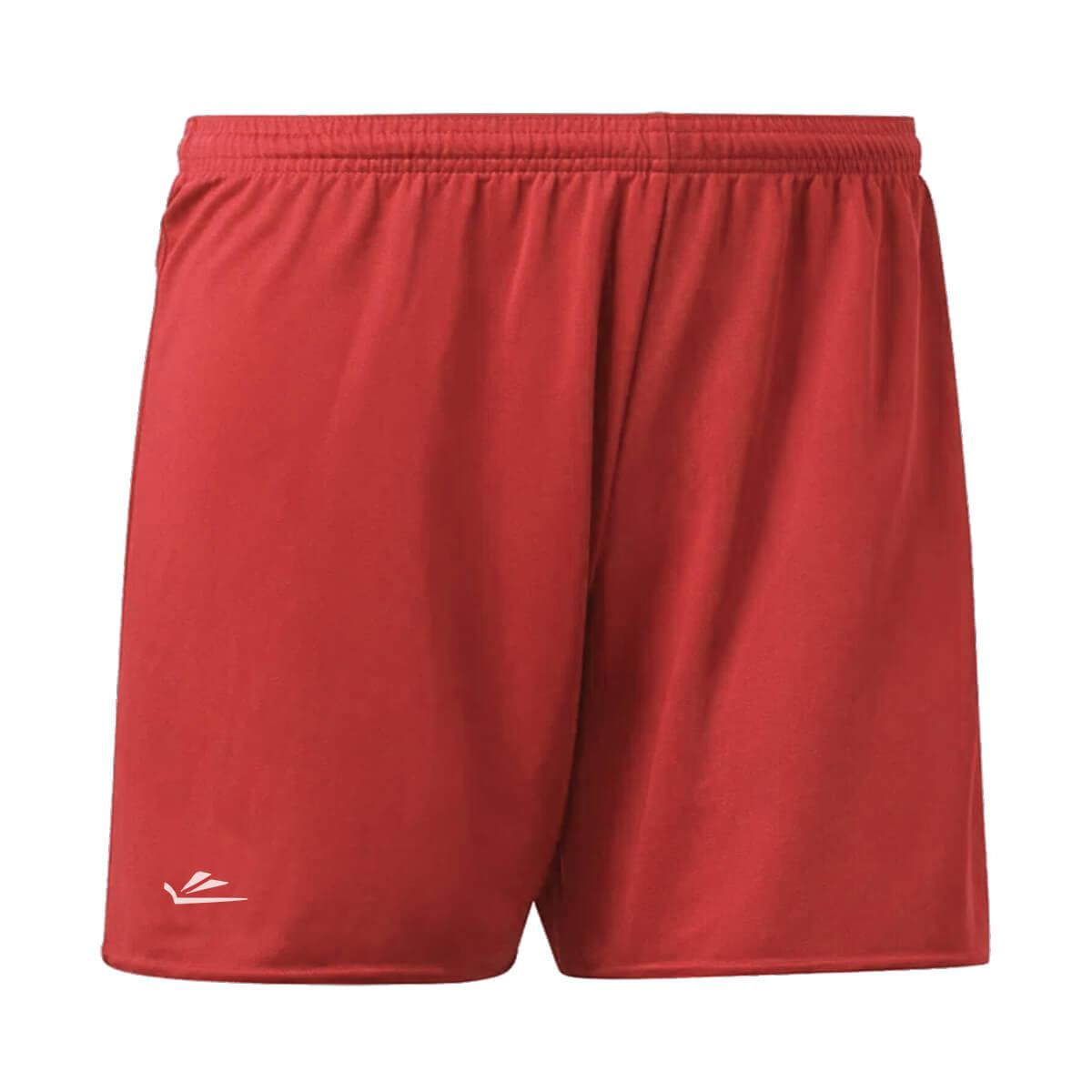 Calção de Futebol Básico Liso Plus Vermelho