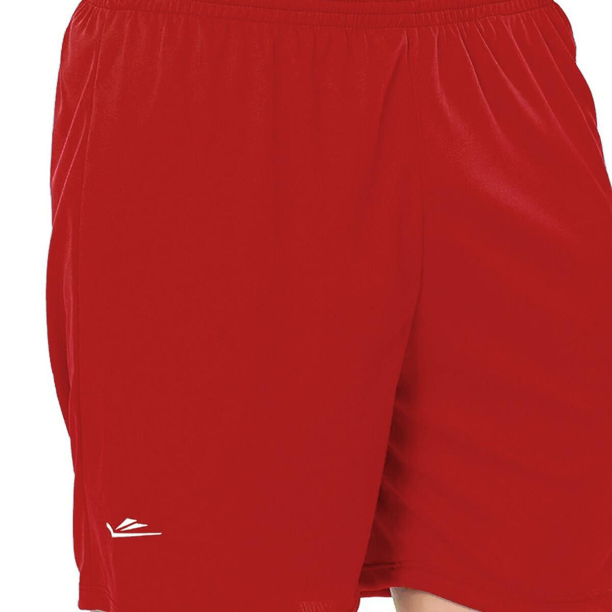 Calção de Futebol Básico Liso Vermelho