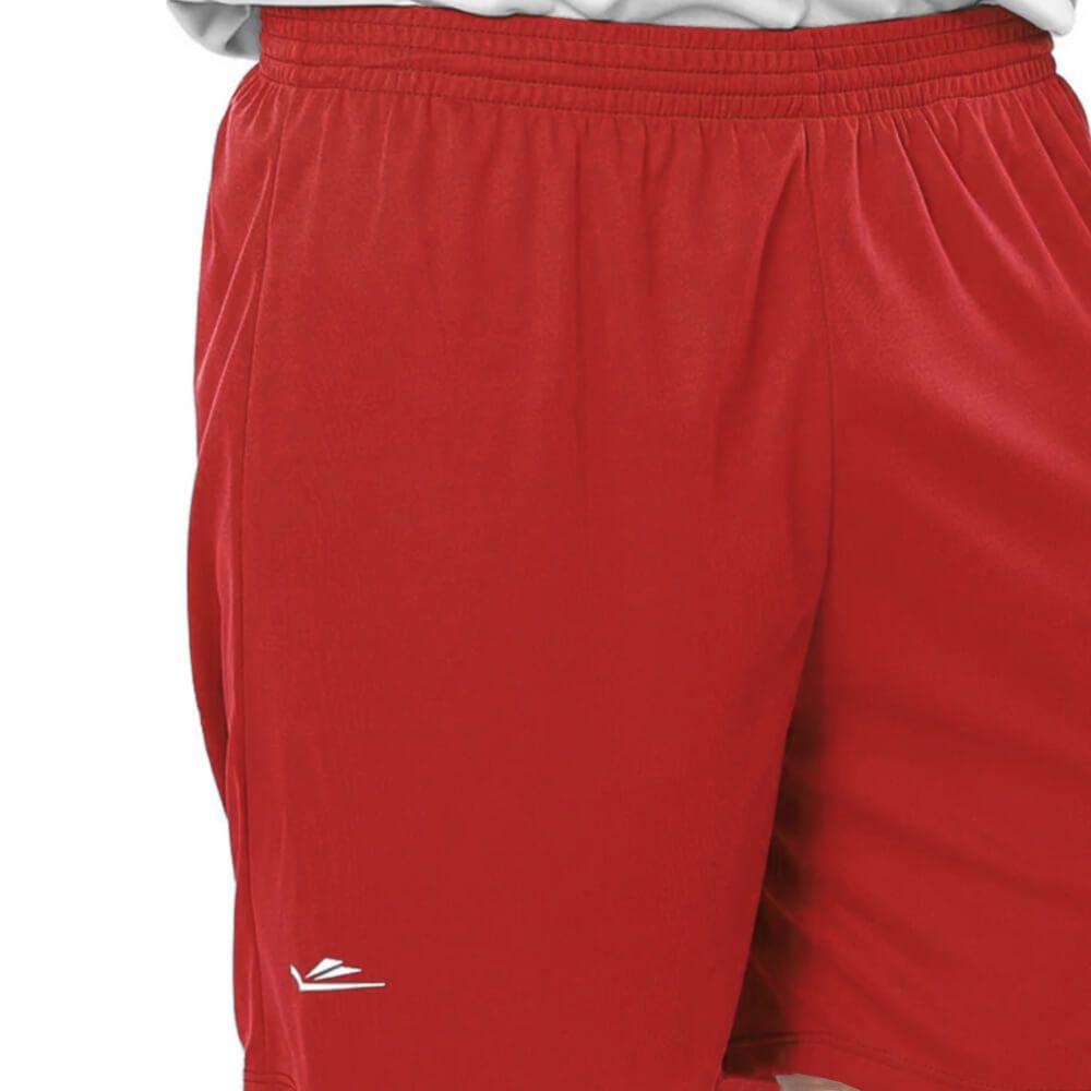 Calção de Futebol Liso Vermelho